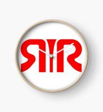 Logo Rachel Rhodes rouge Horloge
