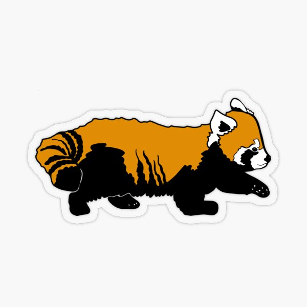 Red Panda Pup Transparent Sticker