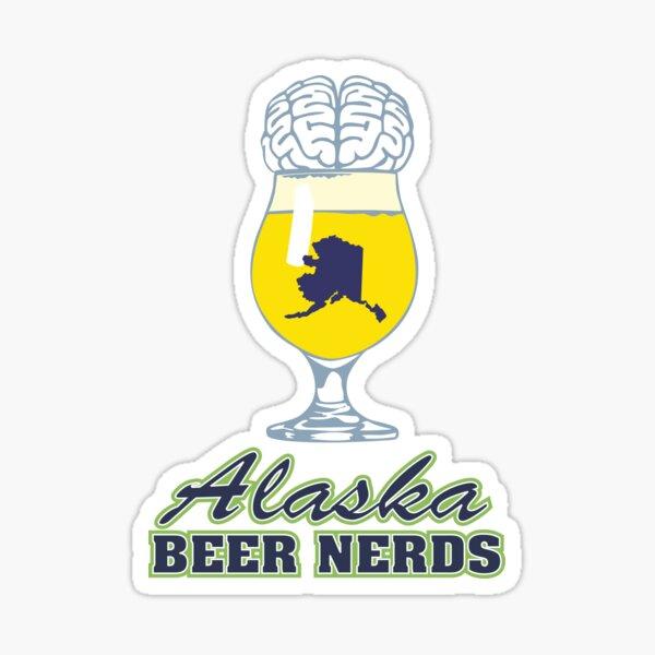 Alaska Beer Nerds Logo Sticker