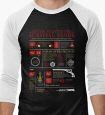 The Hunters Survival Guide Men's Baseball ¾ T-Shirt
