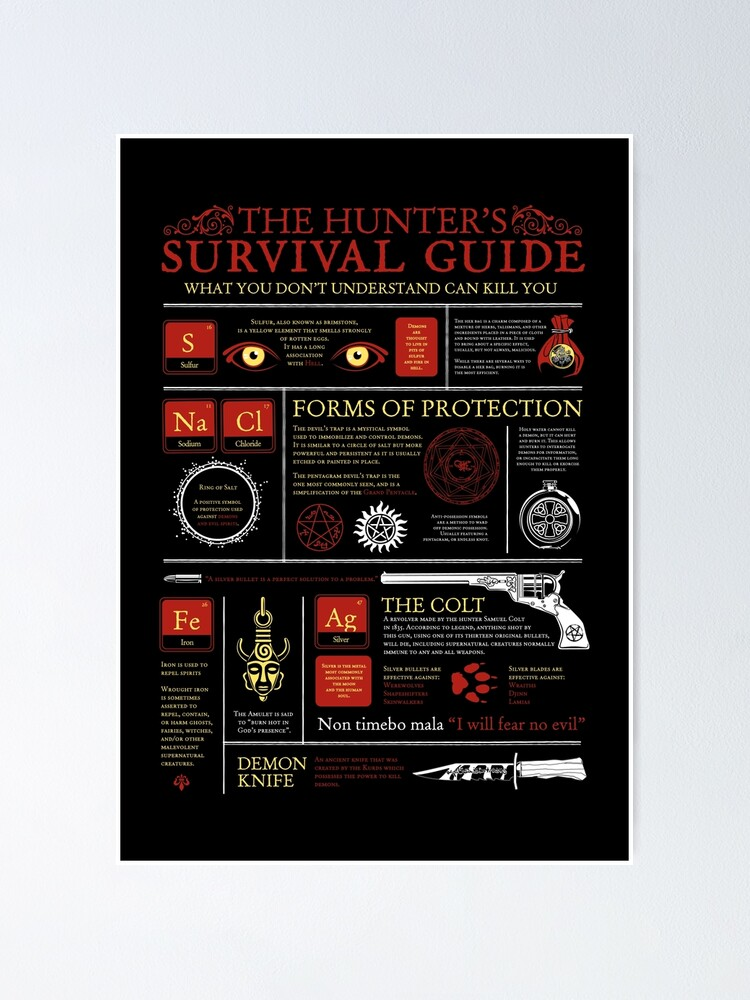 Alternate view of The Hunters Survival Guide Poster