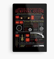 The Hunters Survival Guide Metal Print
