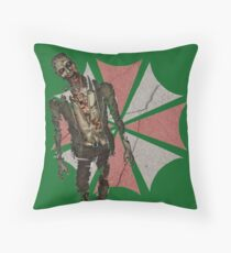 Concrete Umbrella Logo with Zombie Throw Pillow