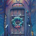 Ghibli Christmas in Howls Moving Castle by illustore