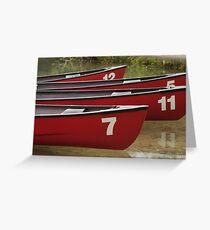 Boats on a lake, Canada Greeting Card