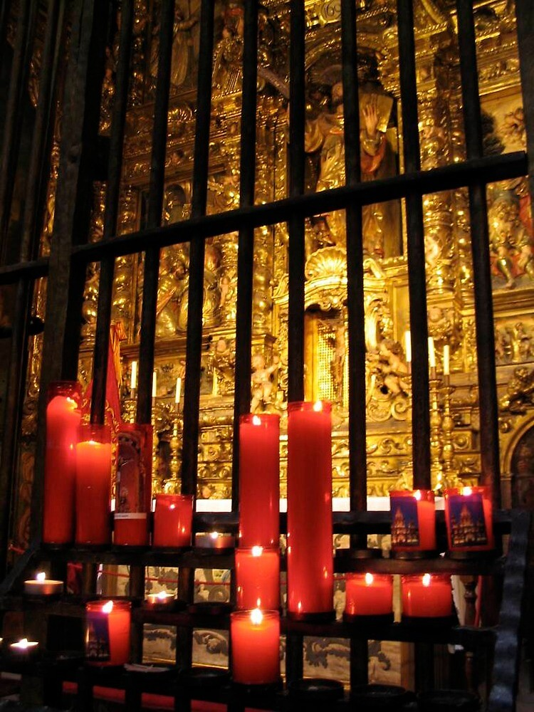 Candles, Cathedral, Barcelona by spiderstu