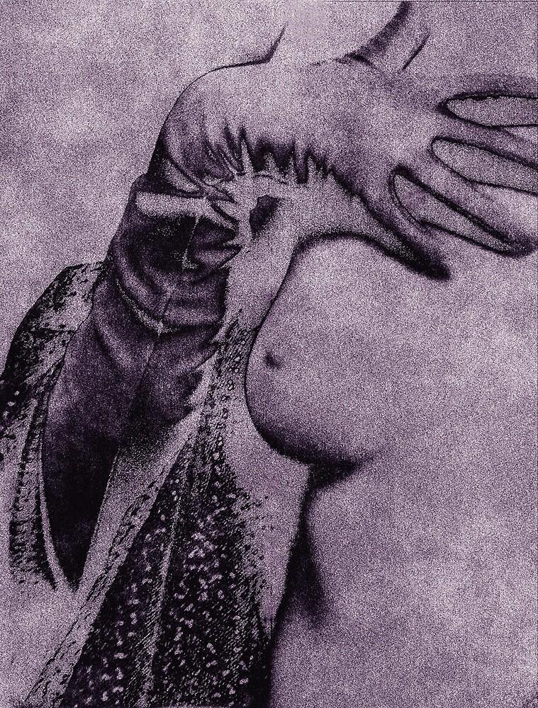Gloved Hand on Breast by Jillian Merlot