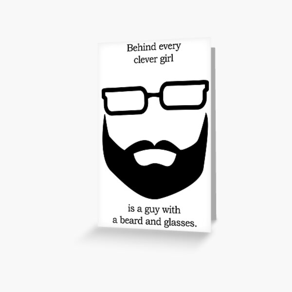 Behind Every Clever Girl Greeting Card