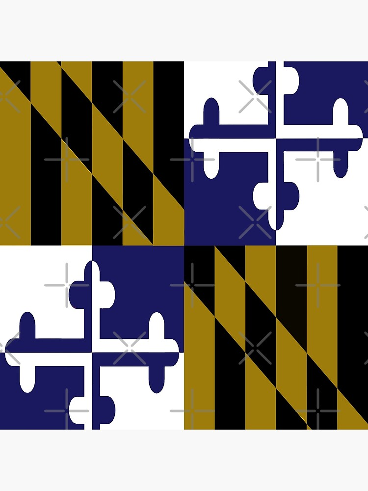 Maryland Flag Football Baltimore Ravens Colors Purple Gold Art Board Print By Draculaura2009 Redbubble