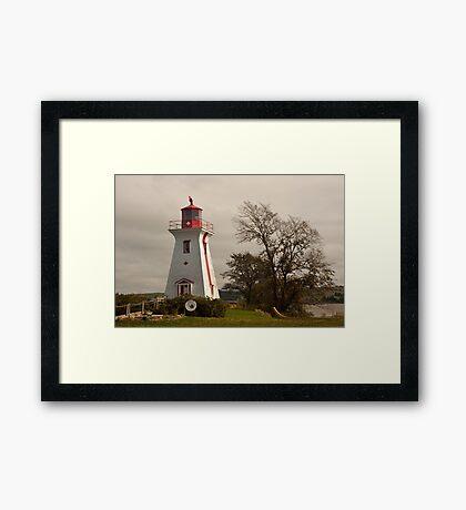 Victoria Harbor Lighthouse - Prince Edward Island Framed Print