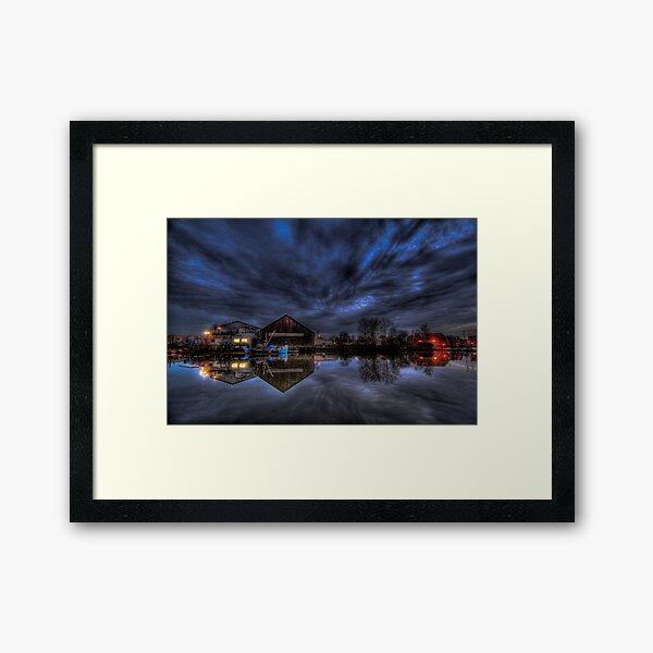 Weather over the South Fraser Framed Art Print