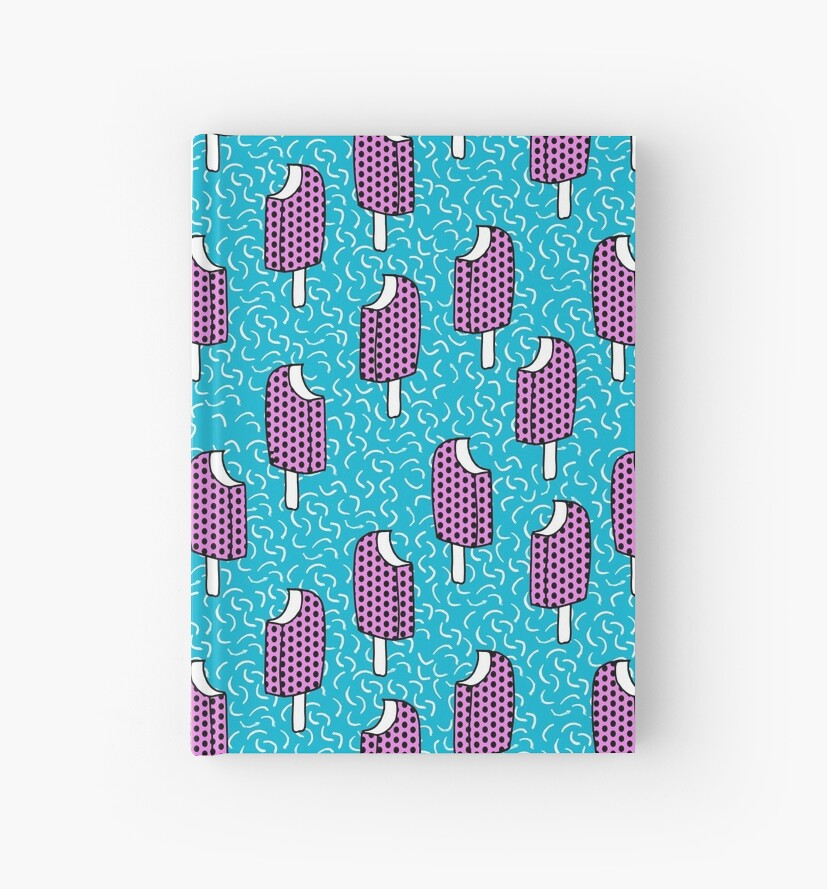Cuadernos de tapa dura «Bite Me - popsicle retroceso estilo años 80 ...