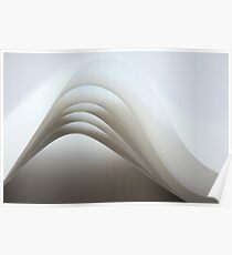 Paper lines - paper folds Poster
