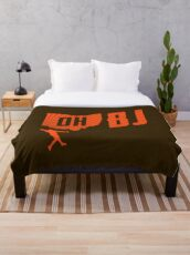 OBJ Browns Throw Blanket