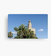 Seville - Torre del Oro  Canvas Print