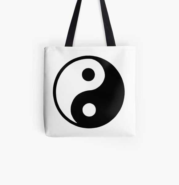 Tote bag Wu Wei handbag canvas tote bag budhism yoga bag taoism bag market tote bag