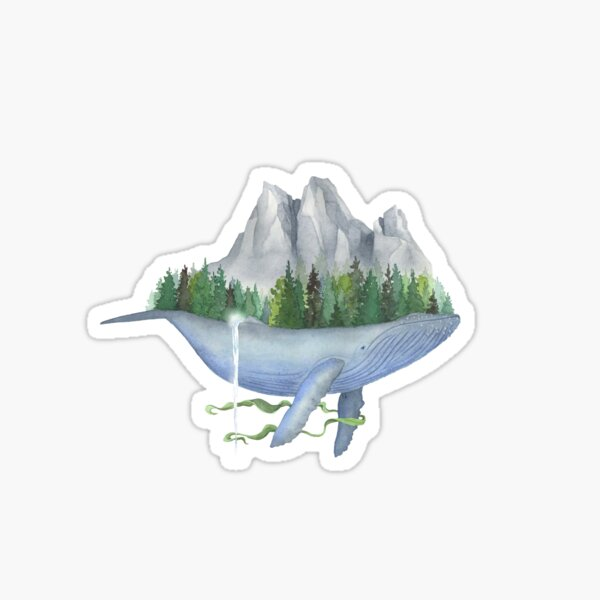 Old Growth Whale Sticker