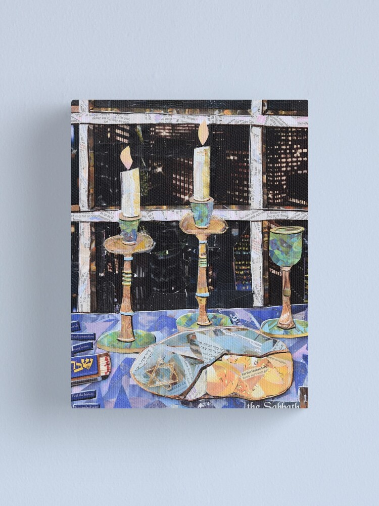 Alternate view of Shabbat in the City Canvas Print