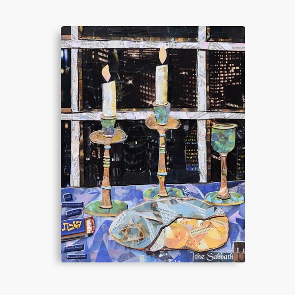 Shabbat in the City Canvas Print