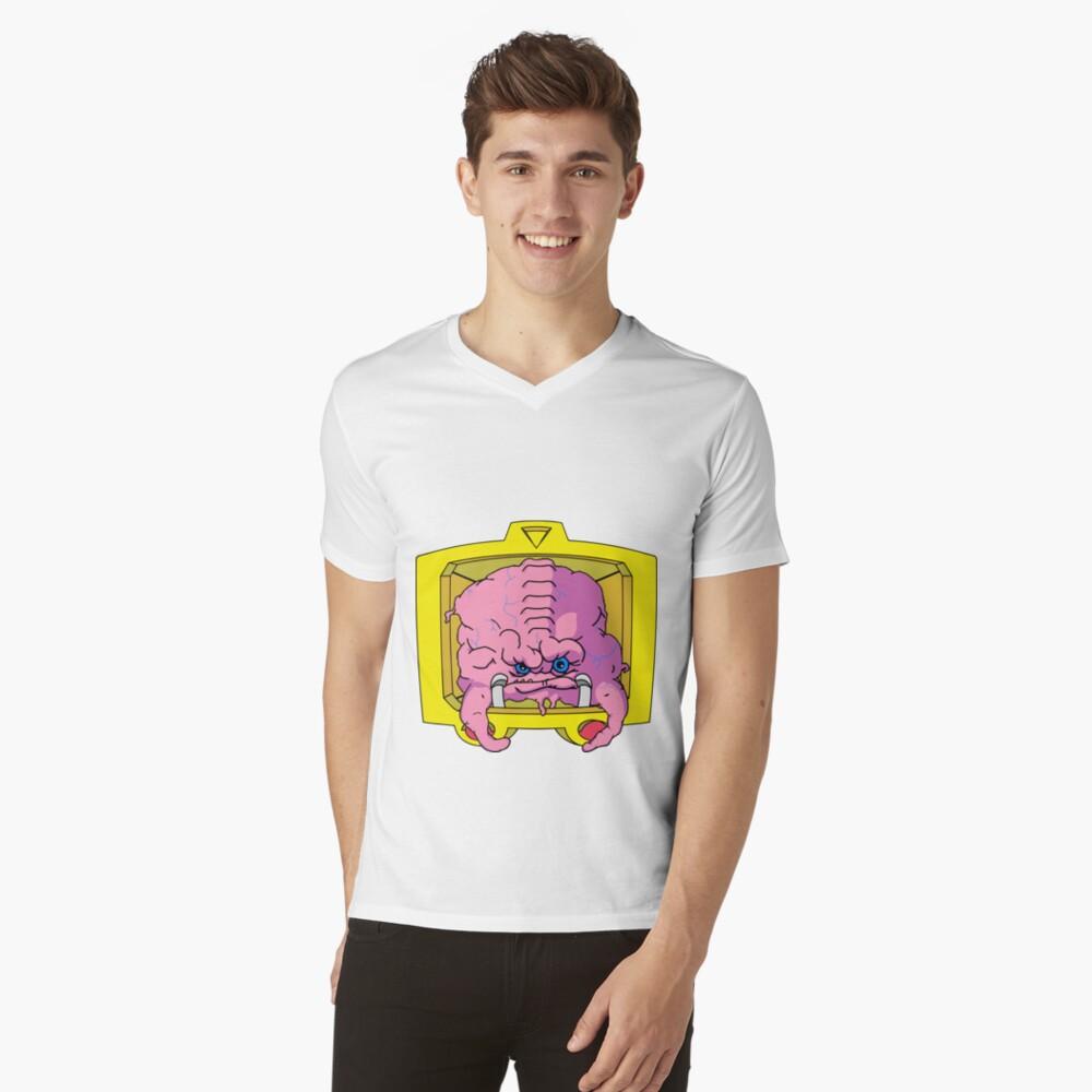 KRANG! Mens V-Neck T-Shirt Front