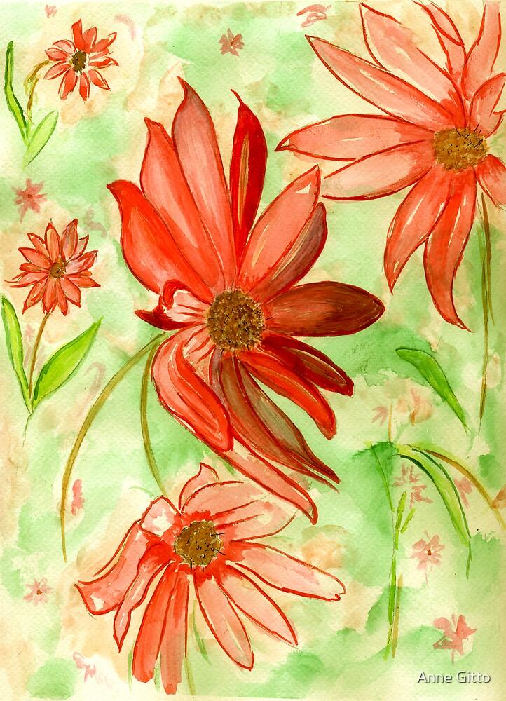 Orange Flowers by Anne Gitto
