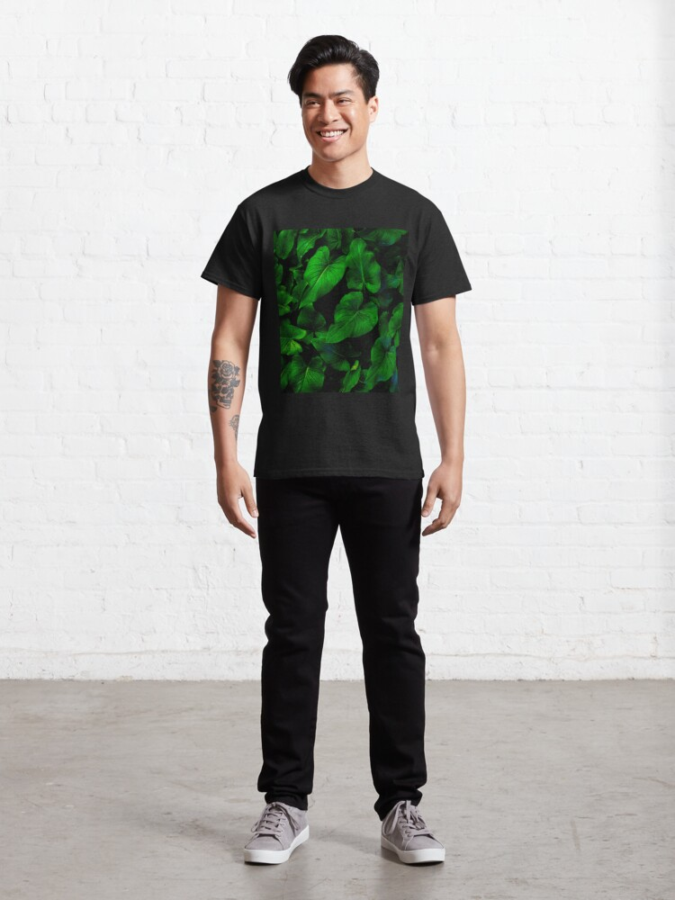 Alternate view of Dark Green Lilly Leaves Classic T-Shirt