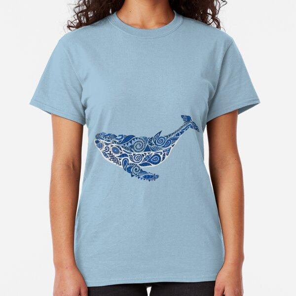 Geo-Whale Blue  Classic T-Shirt