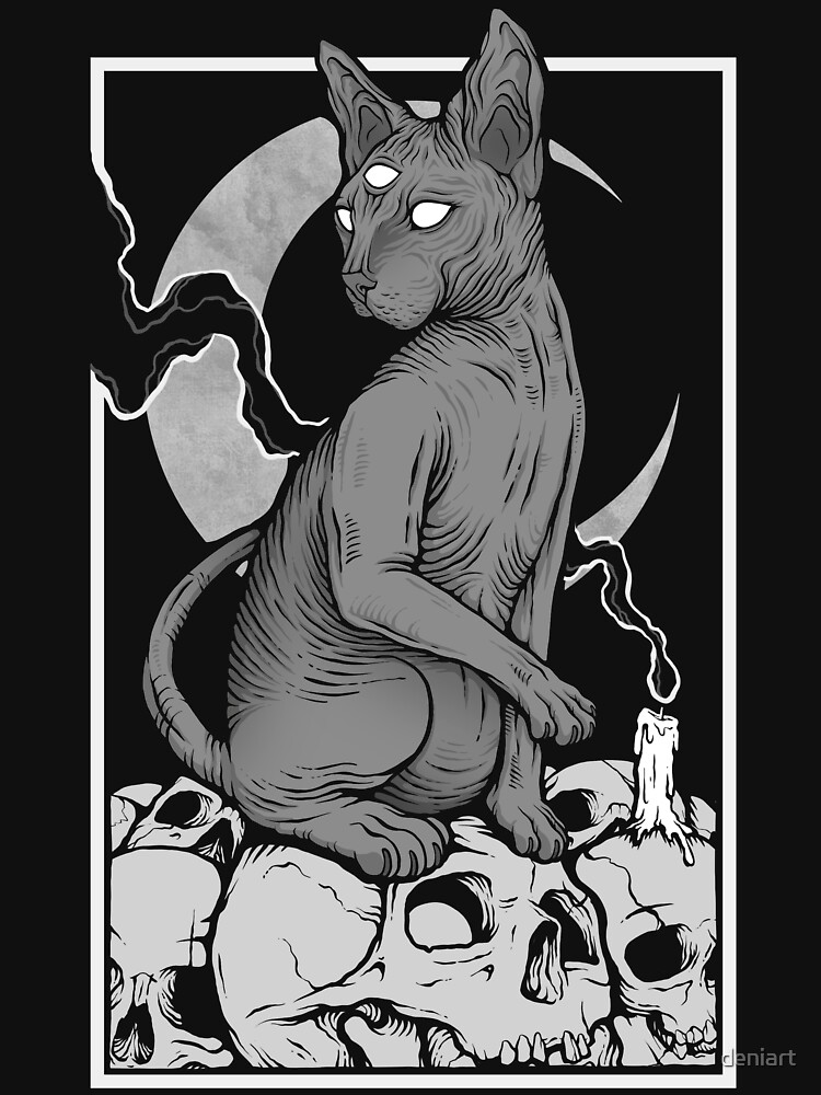 Occult Cat by deniart