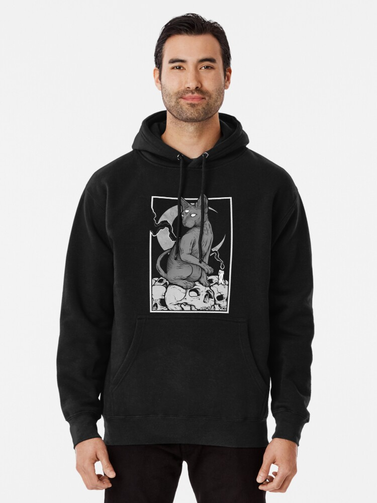 Alternate view of Occult Cat Pullover Hoodie