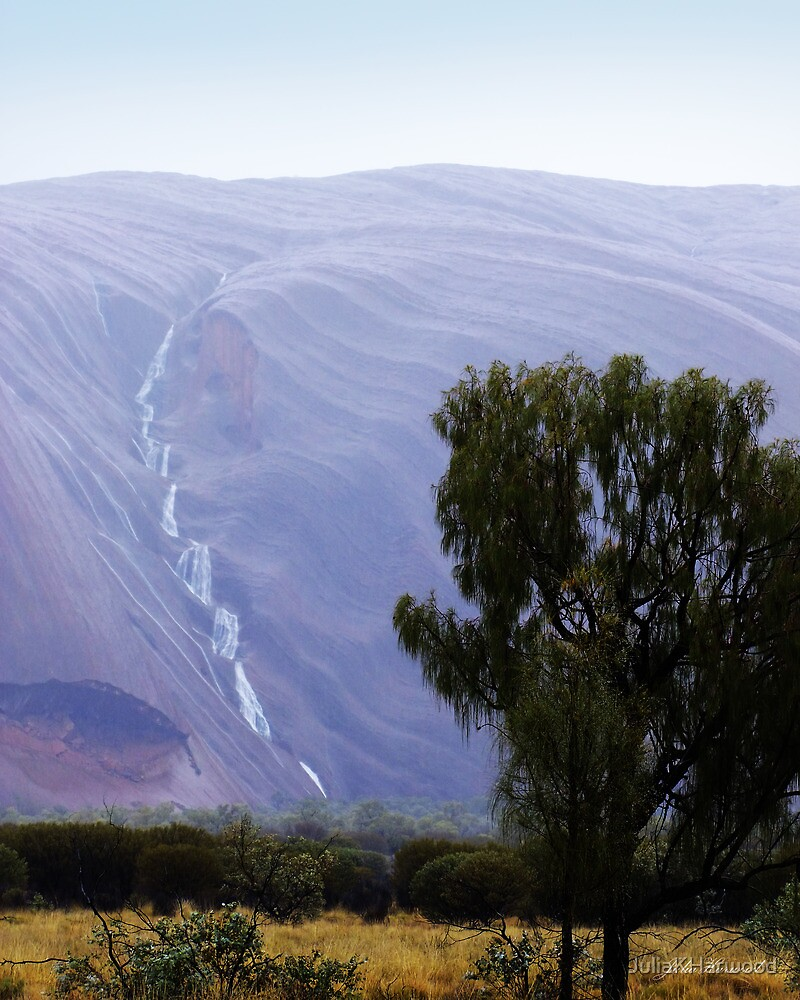 Rain on Uluru by JuliaKHarwood