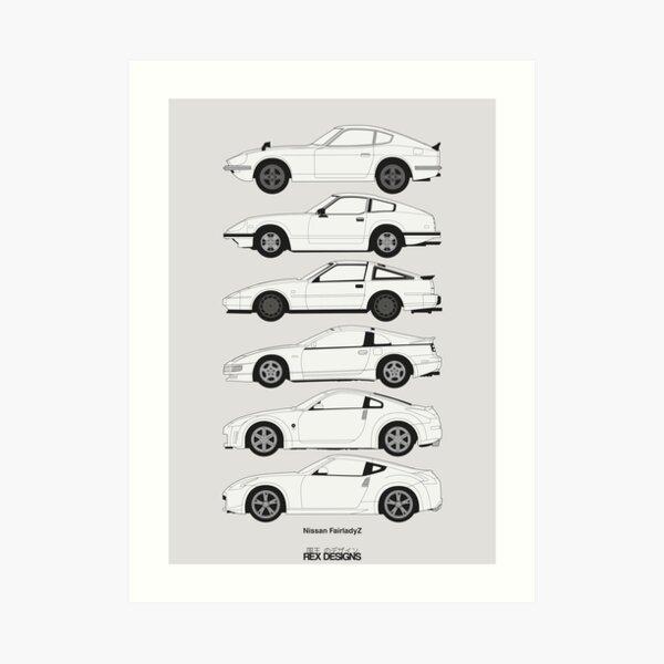 Nissan Fairlady Z History Art Print