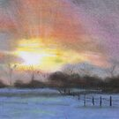 Winter Sunset - A Sunset, series 2 of 10 by Blended