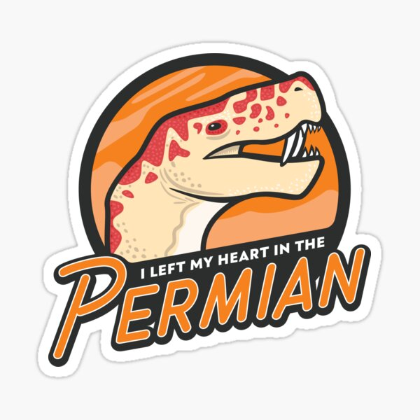 I Left My Heart in the Permian Sticker