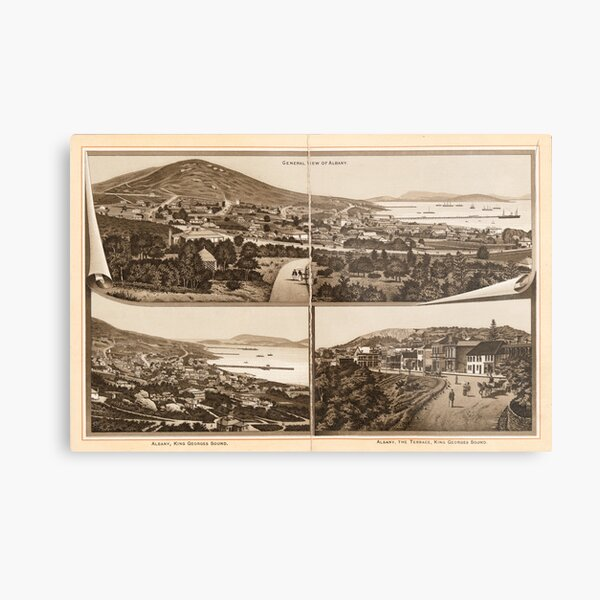 Western Australia general view of Albany State Library of Western Australia Metal Print