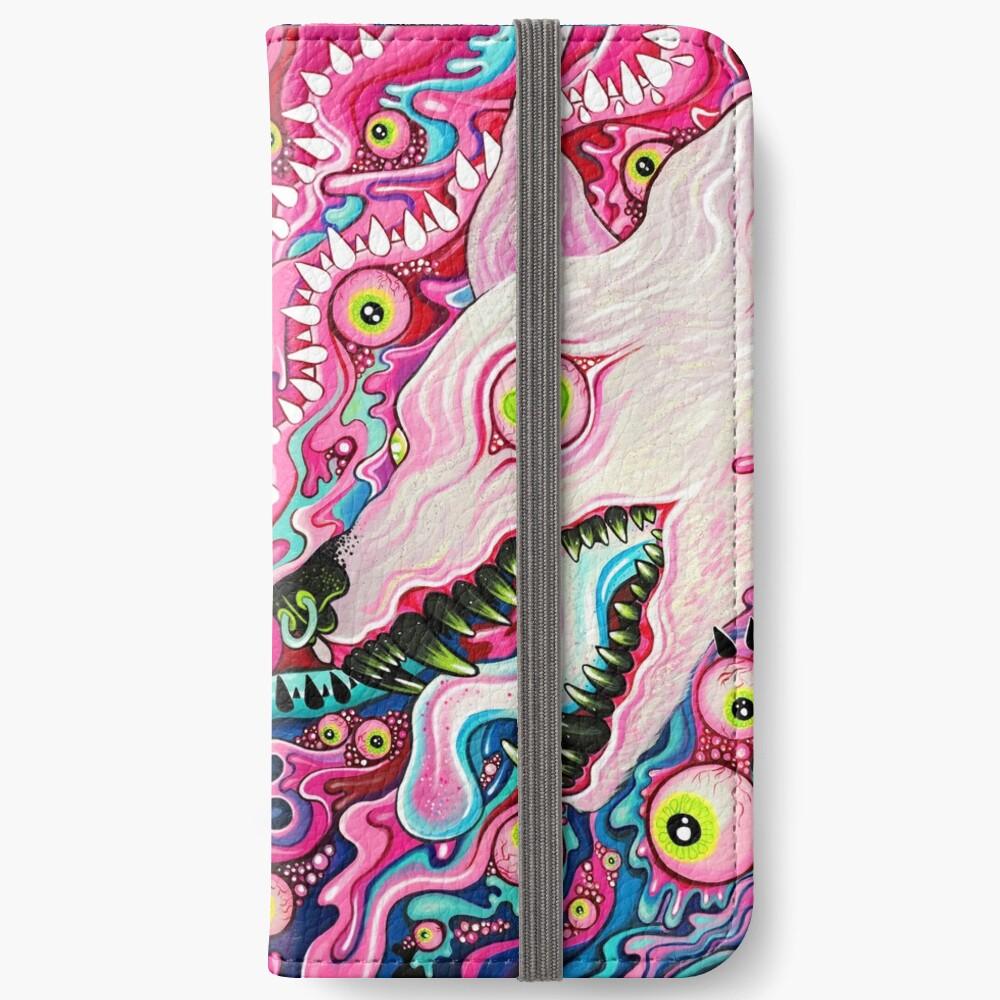 Glitterwolf Acrylic Painting iPhone Wallet