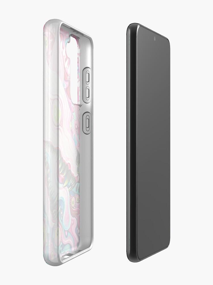 Alternate view of Glitterwolf Acrylic Painting Case & Skin for Samsung Galaxy
