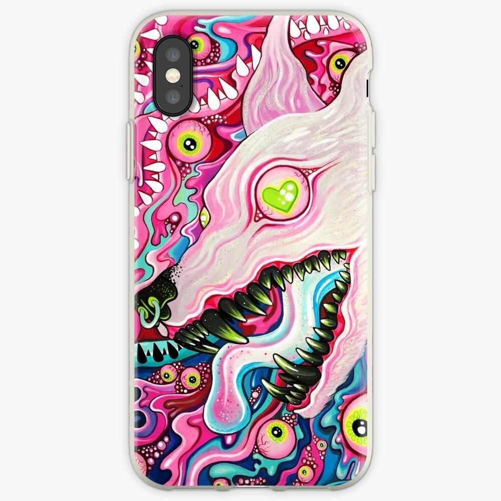 Glitterwolf Acrylic Painting iPhone Case & Cover