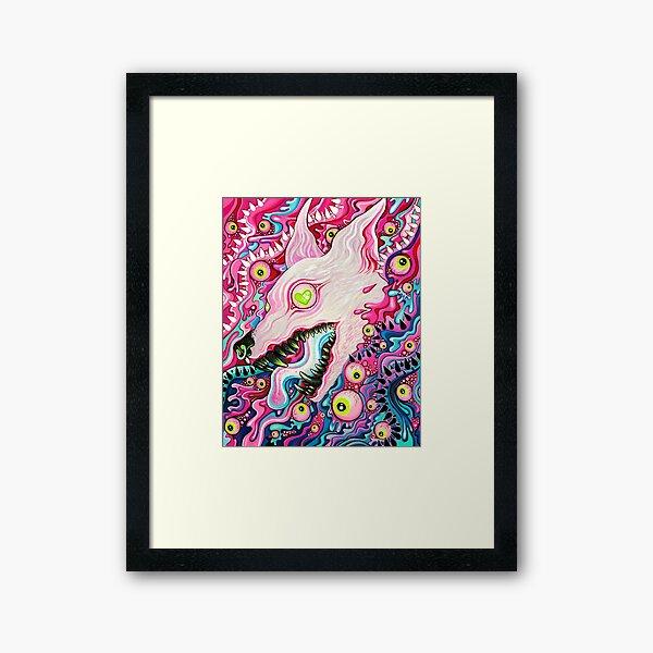 Glitterwolf Acrylic Painting Framed Art Print