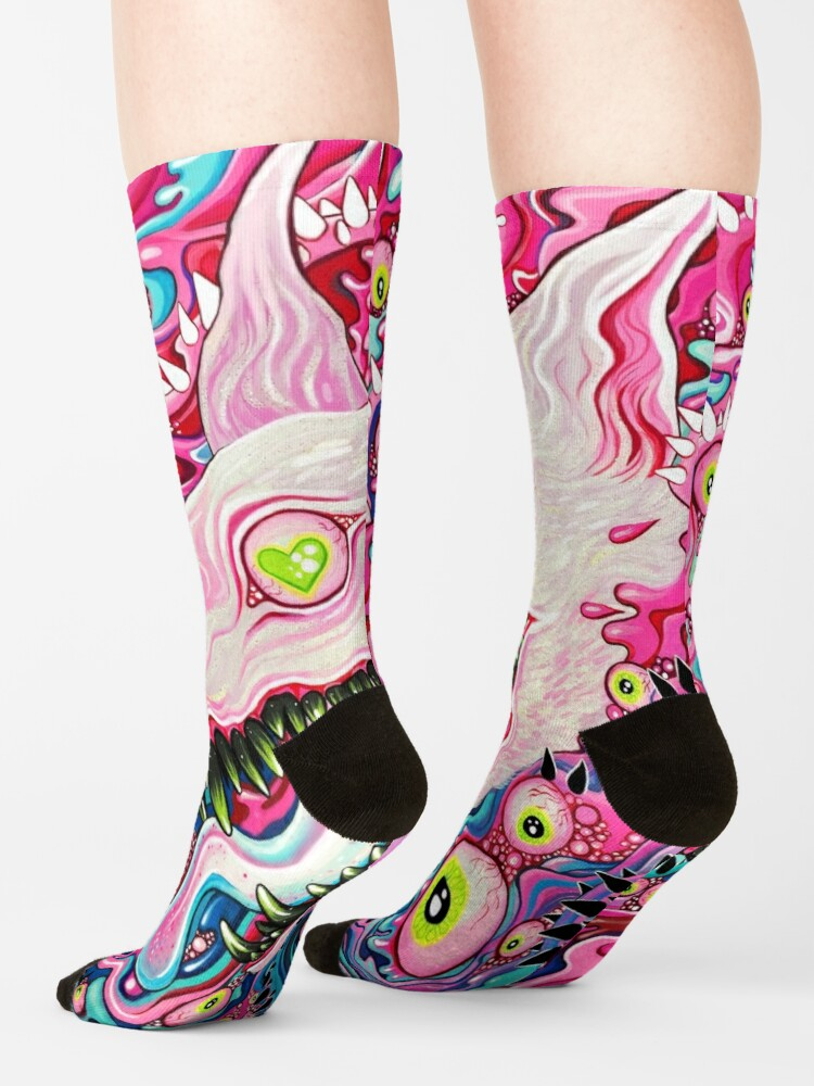 Alternate view of Glitterwolf Acrylic Painting Socks