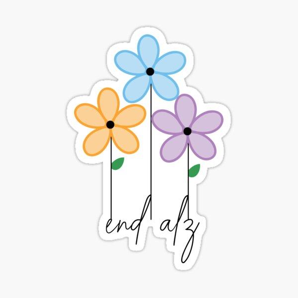 Alzheimers Flowers Sticker