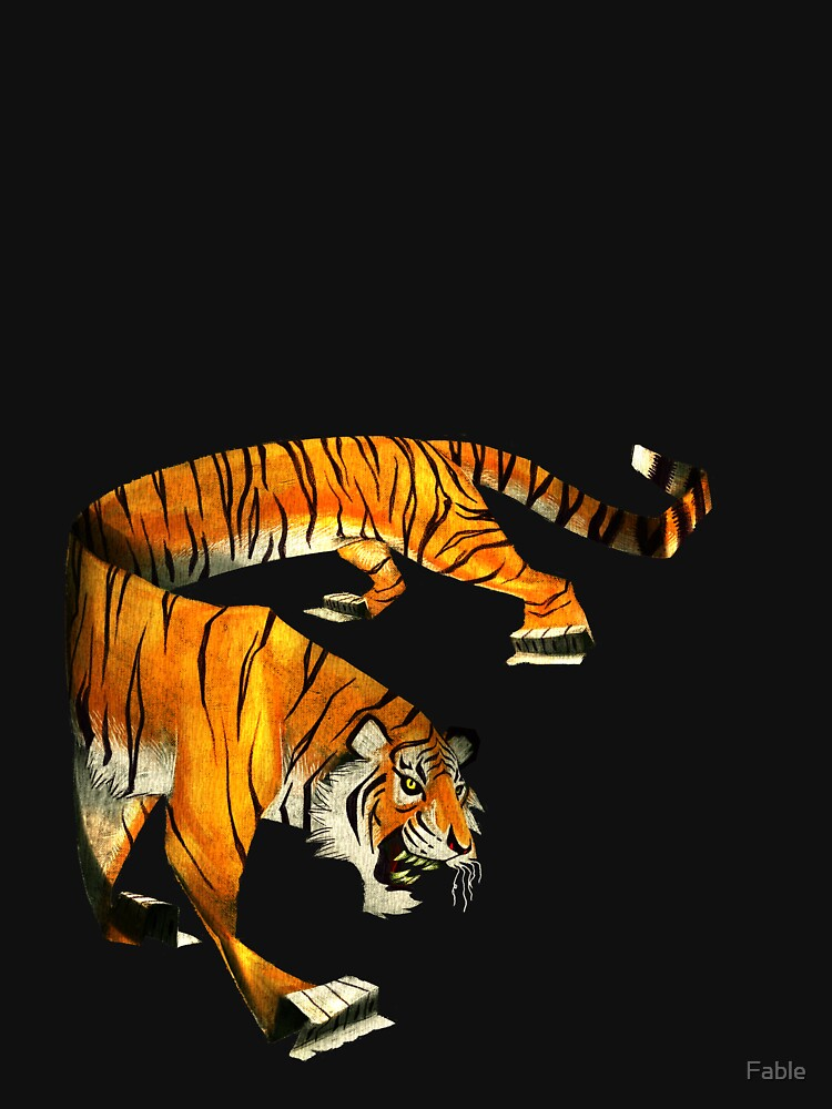 Paper Tiger Isolated by Fable