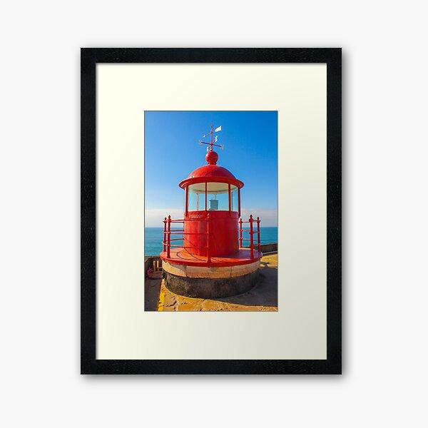 Nazare Lighthouse Framed Art Print