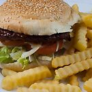 Burger and Chips by Elvin Certeza