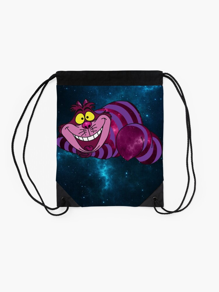 Alternate view of Cheshire Space Cat Drawstring Bag