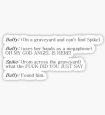 Buffy and Spike - How to find Spike Sticker
