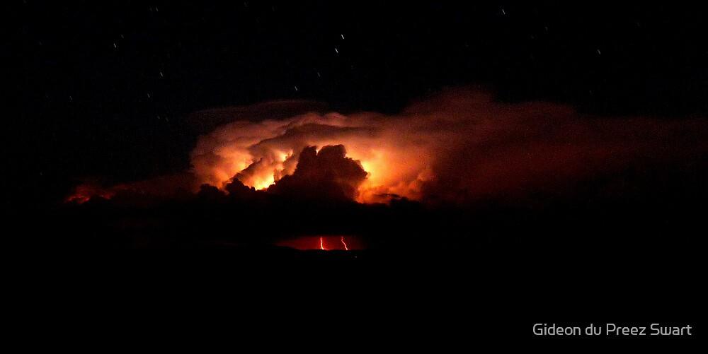distant storm by Gideon du Preez Swart