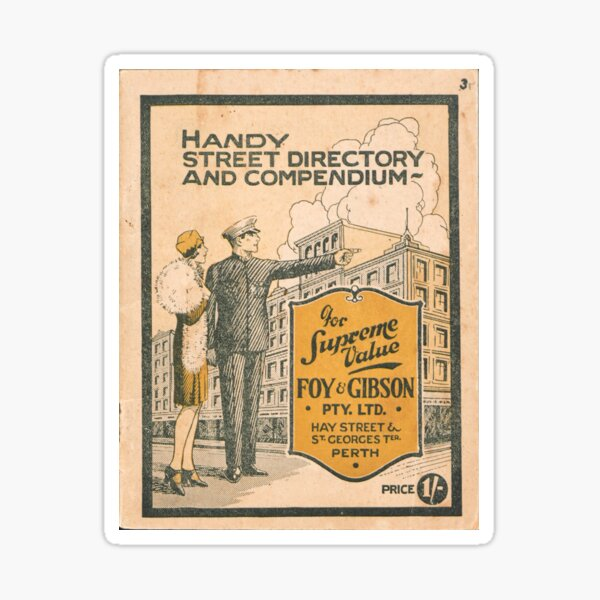 Handy street directory and compendium of Perth and suburbs State Library of Western Australia Sticker