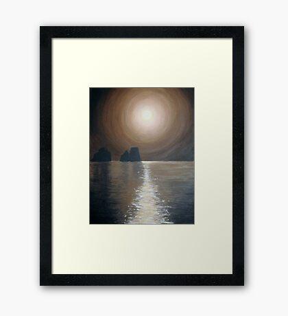 Chocolate sunset - Faraglioni, Capri Framed Print