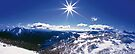 Sunburst over Mt Feathertop and Mt Jaithmathang by Travis Easton