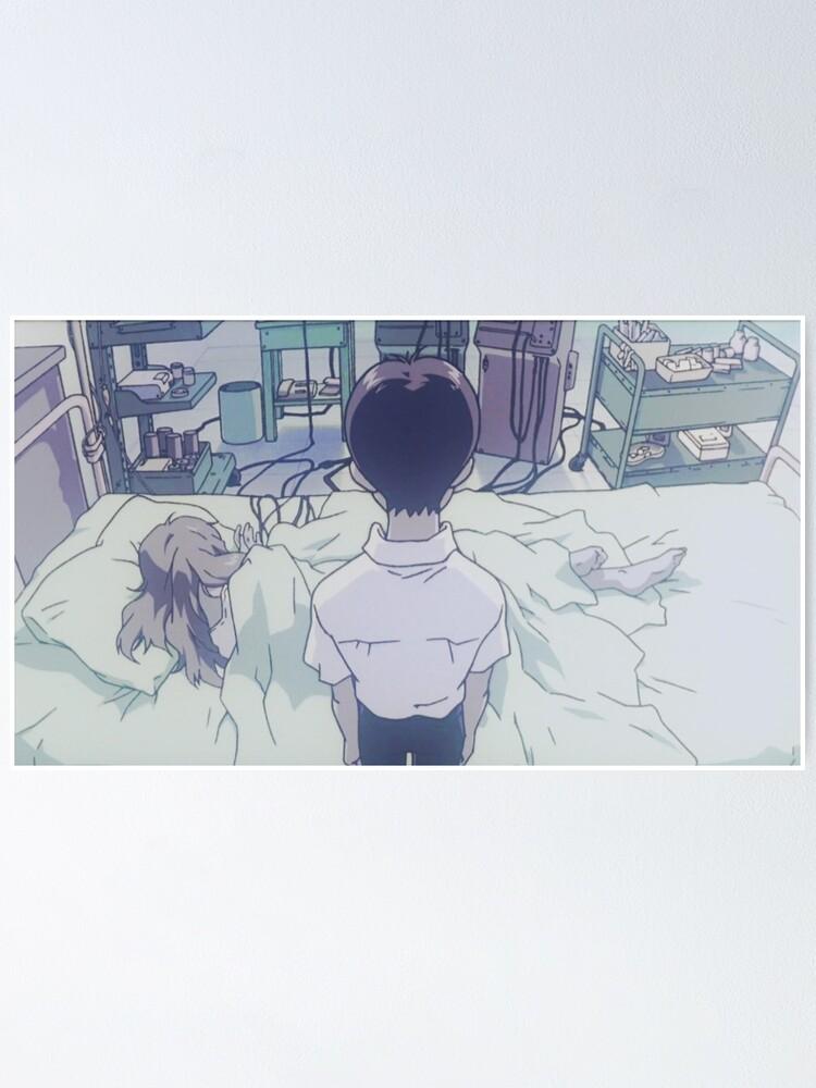The End Of Evangelion Shinji Visits Asuka At The Hospital Poster By Ukawa Redbubble